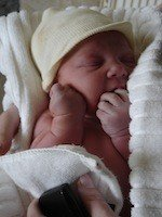 Baby of chiropractor in seattle born at home.