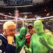 We Met The Vancouver Canucks Green Men!