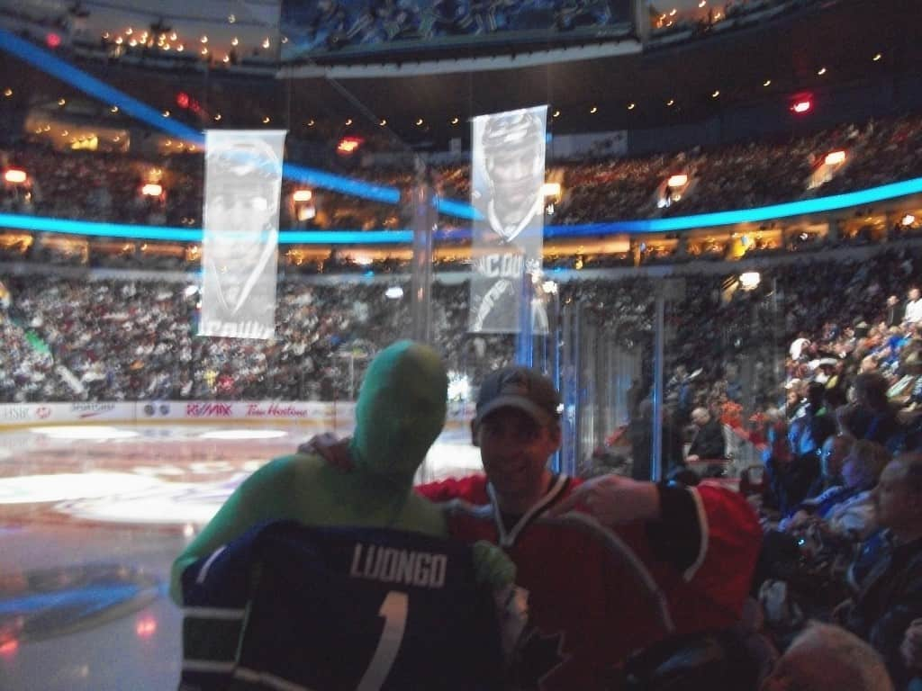 Seattle Chiropractor's Meet the Canucks Green Men